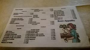 L'economicissimo menu (fronte retro)