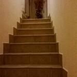 La scalinata che porta alla zona notte