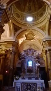 L'interno del santuario di San Donato a San Donato in Val Comino