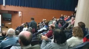 La platea dell'Auditorium della BPER gremita di spettatori.