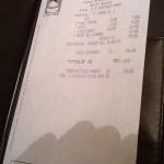 Il conto salato