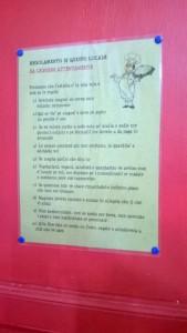 Il regolamento dell'Osteria da Massimo di Giulianova