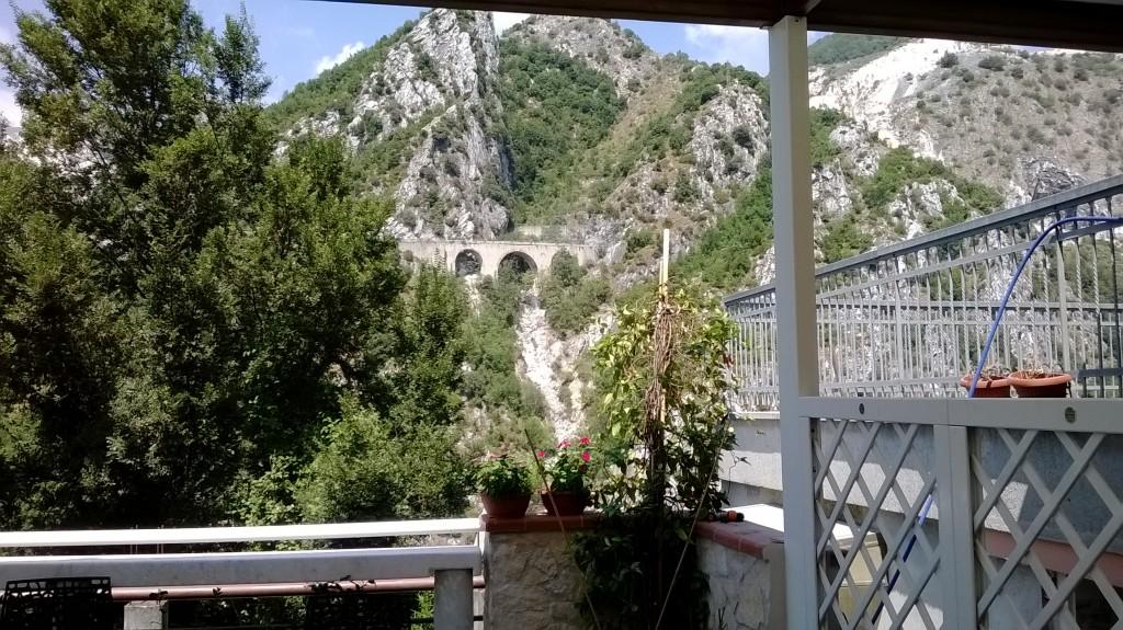 Panorama che si gode dalla terrazza del ristorante Ometto