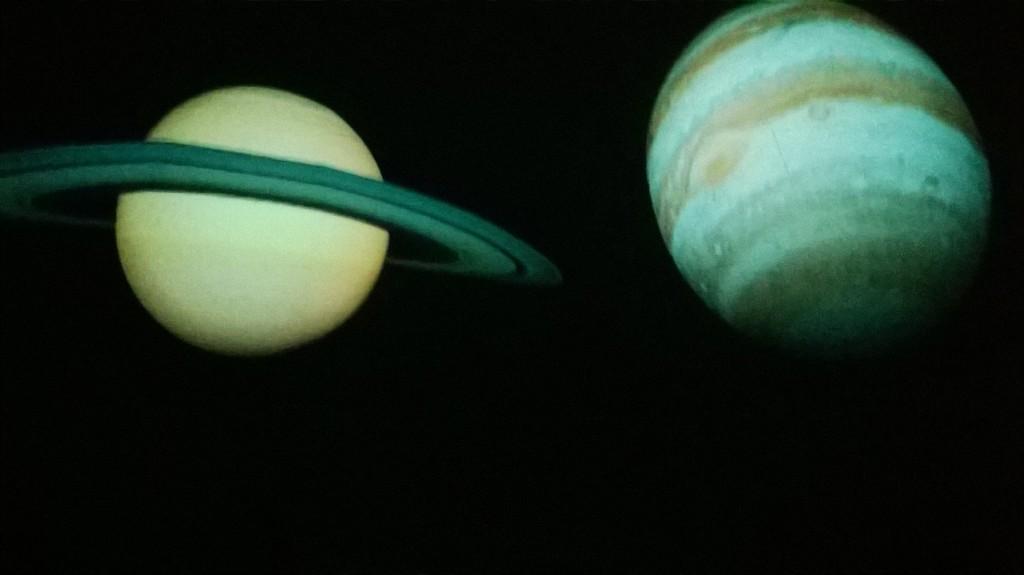 Giove e Saturno visti nel Planetario