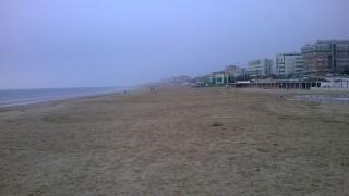 La spiaggia di velluto di Senigallia in inverno
