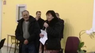 Roberto Vecchioni, introdotto dalla D.S. del Liceo Cotugno, Fiorenza Papale