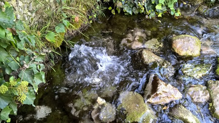 L'acqua sgorga dal sottosuolo. Sorgenti del Pescara