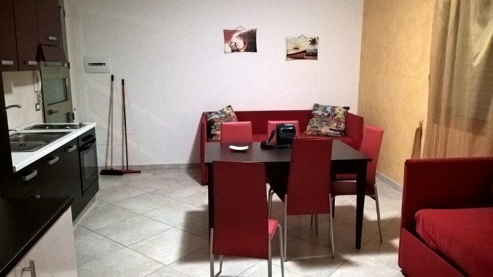 La sala del nostro appartamento al Residence Donna Iolanda di Melendugno
