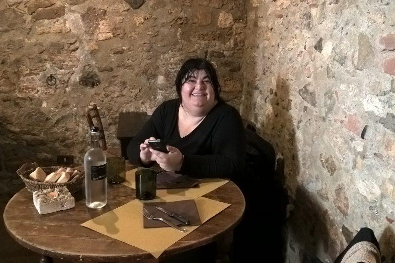 Il ristorante Il loggiato a Bagno Vignoni (SI)