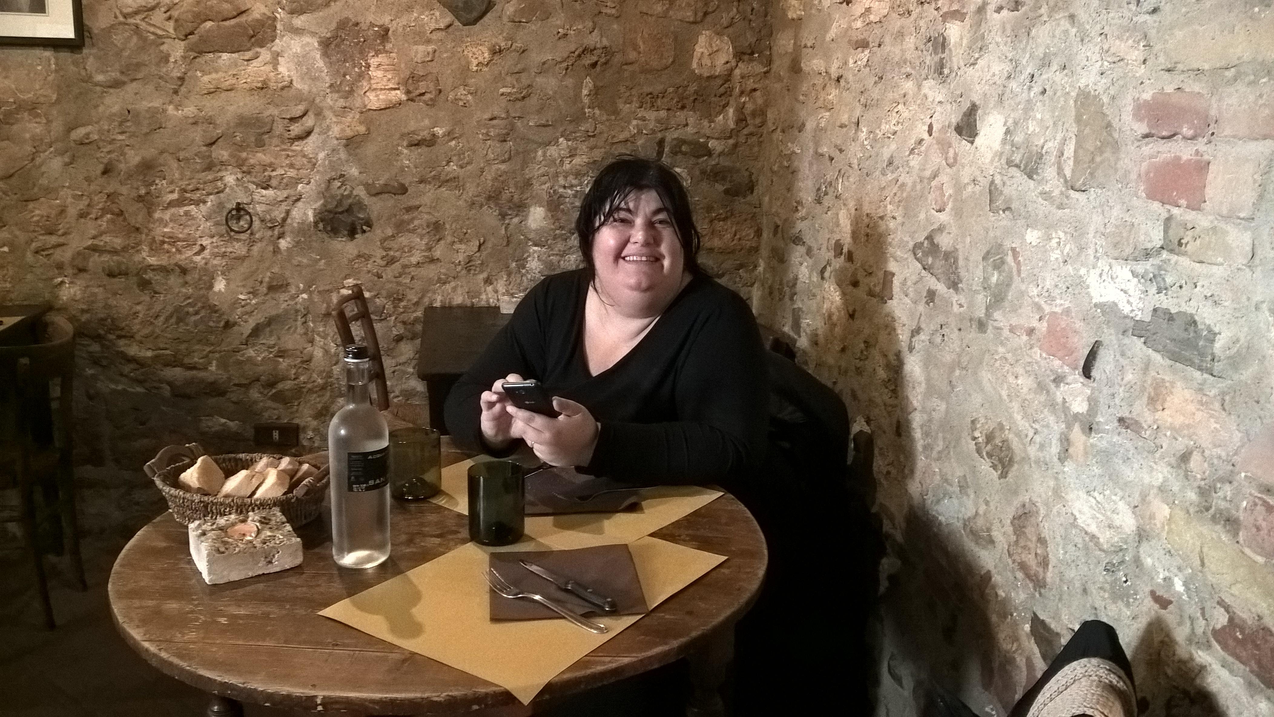 Il ristorante il loggiato a bagno vignoni si